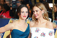 Jessica Brown Findlay, Lily James, The Guernsey Literary and Potato Peel Pie Society - World Premiere, Curzon Mayfair, London UK, 09 April 2018, Photo by Richard Goldschmidt