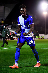 Rollin Menayese of Bristol Rovers after the final whistle of the match - Mandatory by-line: Ryan Hiscott/JMP - 17/12/2019 - FOOTBALL - Home Park - Plymouth, England - Plymouth Argyle v Bristol Rovers - Emirates FA Cup second round replay