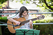 DEAL FESTIVAL 2017. A series of free open air performances in the front of St. George's Church, Deal. Pictures feature guitarist Richard Rozze.