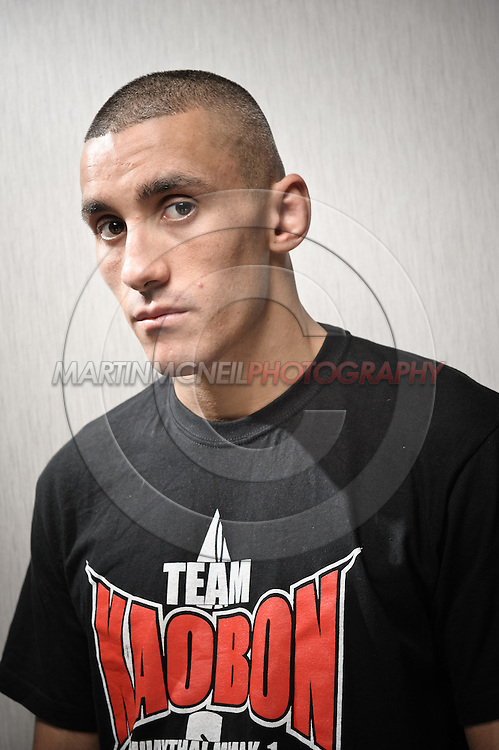 A portrait of mixed martial arts athlete Terry Etim