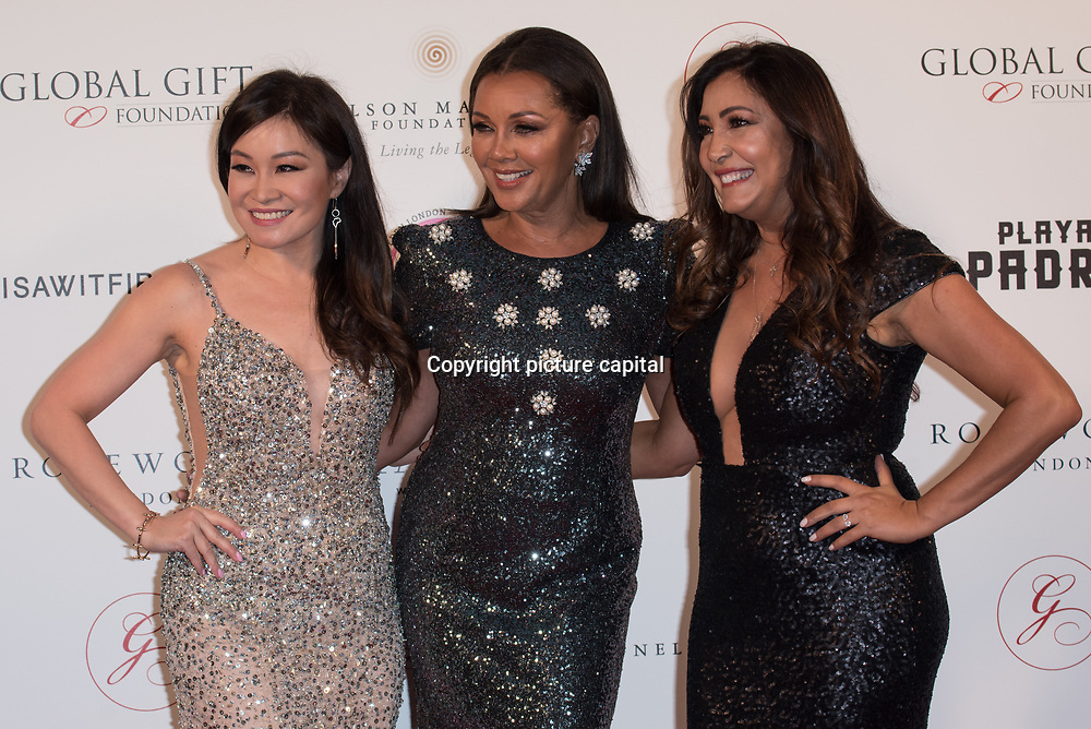 Jen-Su,Vanessa Williams ,Maria Bravo Arrive The Nelson Mandela Foundation hosts dinner in memory of Nelson Mandela on what would have been the day before his 100 birthday on 24 April 2018 at Rosewood Hotel, London, UK.