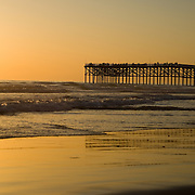 Sunset over Crystal Pier, Pacific Beach, San Diego, CA. Crystal Pier, sunset in Pacific Beach,Southern California.