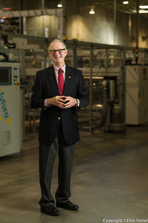 Portrait of Ralph Young in a packaging manufacturing firm for the AICC trade organization