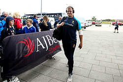 Nick Schonert of Worcester Warriors arrives at The AJ Bell Stadium for his side's Gallagher Premiership fixture against Sale Sharks - Mandatory by-line: Robbie Stephenson/JMP - 09/09/2018 - RUGBY - AJ Bell Stadium - Manchester, England - Sale Sharks v Worcester Warriors - Gallagher Premiership