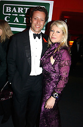 "GIULIA CONSTANTINI and TOBY ROWLANDS at the 10th annual British Red Cross London Ball.  This years ball theme was Indian based - ""Yaksha - Yakshi: Doorkeepers to the Divine"" and was held at The Room, Upper Ground, London on 1st December 2004.  Proceeds from the ball will aid vital humanitarian work, including HIV/AIDS projects that the Red Cross supports in the UK and overseas.<br />