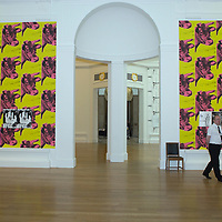 EDINBURGH, UNITED KINGDOM - JULY 31:A musum attendant at  National Gallery of Scotland to mark an upcoming Andy Warhol exhibition, coinciding with the 20th anniversary of the artist's death, on July 31, 2007 in Edinburgh, Scotland. This major exhibition is the most comprehensive show dedicated to the work of the artist shown in Scotland.