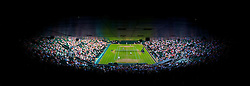 LONDON, ENGLAND - Friday, June 25, 2010: Centre Court during the Mixed Doubles 1st Round match on day five of the Wimbledon Lawn Tennis Championships at the All England Lawn Tennis and Croquet Club. (Pic by David Rawcliffe/Propaganda)