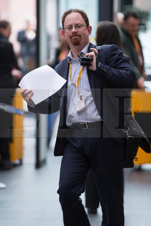 © Licensed to London News Pictures . 15/03/2015 . Liverpool , UK . JULIAN HUPPERT arrives . The Liberal Democrat Party Conference at the Arena and Conference Centre in Liverpool . Photo credit : Joel Goodman/LNP