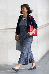 © Licensed to London News Pictures. 23/06/2019. London, UK. MP for Don Valley Caroline Flint arrives at the BBC. She will later appear on the Andrew Marr Show . Photo credit: George Cracknell Wright/LNP