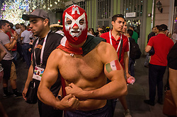 June 23, 2018 - Moscou, Moscow region, Russia - Football fans from Mexico in Moscow at the world Cup 2018  (Credit Image: © Aleksei Sukhorukov via ZUMA Wire)