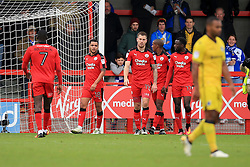 Goal, Billy Clifford of Crawley Town scores the equaliser, Crawley Town 1-1 Bristol Rovers - Mandatory by-line: Jason Brown/JMP - 05/11/2016 - FOOTBALL - Checkatrade.com Stadium - Crawley, England - Crawley Town v Bristol Rovers - Emirates FA Cup first round