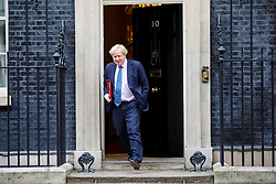 © Licensed to London News Pictures. 21/02/2017. London, UK. Foreign Secretary BORIS JOHNSON leaves after a cabinet meeting in Downing Street, London on Tuesday, 21 February 2017. Photo credit: Tolga Akmen/LNP