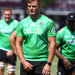 DURBAN, SOUTH AFRICA - FEBRUARY 12: Tyler Paul during the Cell C Sharks training session at Growthpoint Kings Park on February 12, 2018 in Durban, South Africa. (Photo by Steve Haag/Gallo Images)
