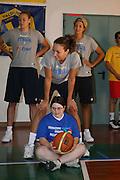 DESCRIZIONE : Bormio Raduno Collegiale Nazionale Femminile Allenamento con Diversamente Abili Psichici<br /> GIOCATORE : Emanuela Ramon Kathrin Ress Manuela Zanon<br /> SQUADRA : Nazionale Italia Donne<br /> EVENTO : Raduno Collegiale Nazionale Femminile<br /> GARA : <br /> DATA : 20/07/2008 <br /> CATEGORIA : <br /> SPORT : Pallacanestro <br /> AUTORE : Agenzia Ciamillo-Castoria/M.Marchi<br /> Galleria : Fip Nazionali 2008 <br /> Fotonotizia : Bormio Raduno Collegiale Nazionale Femminile Allenamento con Diversamente Abili Psichici<br /> Predefinita :
