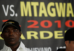 Dec 3, 2009; New York, NY, USA; Rogers Mtagwa at the press conference announcing his January 23, 2010 against Yuriokis Gamboa at Madison Square Garden.