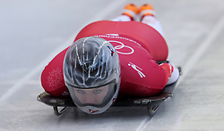 Switzerland's Marina Gilardoni during the Women's Skeleton practice on day three of the PyeongChang 2018 Winter Olympic Games in South Korea. PRESS ASSOCIATION Photo. Picture date: Monday February 12, 2018. See PA story OLYMPICS Skeleton. Photo credit should read: David Davies/PA Wire. RESTRICTIONS: Editorial use only. No commercial use.