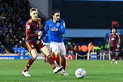 Ryan Williams (7) of Portsmouth on the attack during the EFL Sky Bet League 1 match between Portsmouth and Ipswich Town at Fratton Park, Portsmouth, England on 21 December 2019.