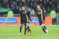 Joie de Yoann Touzghar  - 06.02.2015 - Saint Etienne / Lens - 24eme journee de Ligue 1 -<br /> Photo : Jean Paul Thomas / Icon Sport