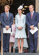 LONDON- UK - 10th June-2016: <br /> <br /> HM Queen Elizabeth II accompanied by HRH The Duke of Edinburgh , HRH The Prince of Wales, HRH The Duchess of Cornwall, The Duke and Duchess of Cambridge, Prince Harry and several other members of the royal family attend a Thanksgiving Service at St Paul's Cathedral to mark the Queens 90th Birthday.<br /> ©Ian Jones/Exclusivepix Media<br /> <br /> UK Sales only:  NO HELLO MAGAZINE