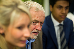 © Licensed to London News Pictures. 26/09/2015. Brighton, UK. Leader of the Labour Party JEREMY CORBYN visiting Entrepreneurial Spark in Brighton, a group that promotes entrepreneuring. The visit takes place on the eve of the Labour Party conference, which is being held in Brighton  Photo credit: Ben Cawthra/LNP