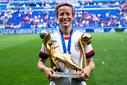 07-07-2019 FRA: Final USA - Netherlands, Lyon<br /> FIFA Women's World Cup France final match between United States of America and Netherlands at Parc Olympique Lyonnais. USA won 2-0 / Megan Rapinoe #15 of the United States