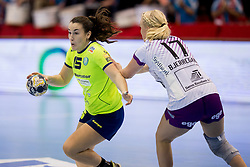 Tjasa Stanko of RK Krim Mercator during handball match between RK Krim Mercator and FC Midtjylland in Main Round of Women's EHF Champions League 2017/18 , on January 27, 2018 in Sports hall Kodeljevo, Ljubljana, Slovenia. Photo by Urban Urbanc / Sportida