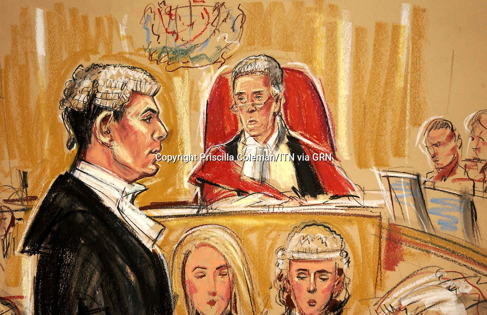 Copyright Priscilla Coleman ITV Artist 31.01.05..Richard Lissack QC (Prosecution) opens the case in front of Justice Mackay at First Avenue House in London today of the five men who are charged with manslaughter and Health and safety breaches in light of the hatfield rail crash...Ref: B1124_126830_0625..Date: ..COMPULSORY CREDIT: Priscilla Coleman/ITVnews/Photoshot