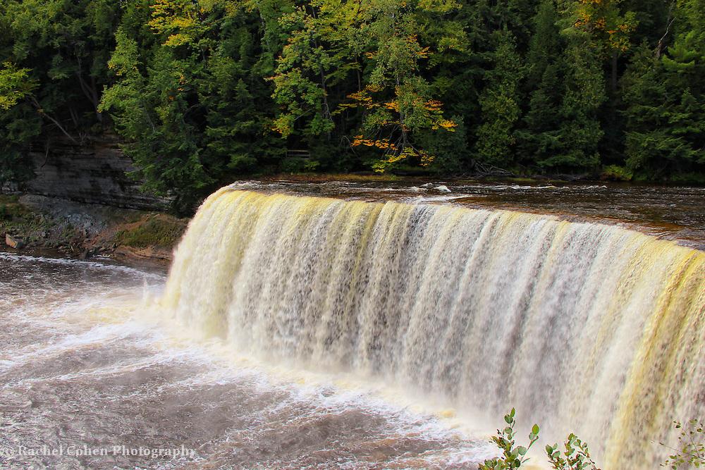 &quot;Falls of Tahquamenon&quot;<br /> <br /> Upper Tahquamenon Falls in early fall!!<br /> <br /> Waterfalls by Rachel Cohen