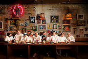 Chefs involved in the Taste Auckland expo take part in a promotional photo shoot.
