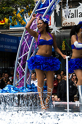 California: San Francisco Carnaval festival parade in the Mission District. Photo copyright Lee Foster. Photo # 30-casanf81126