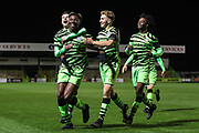 Forest Green Rovers Destiny Oladipo(39) scores a goal 2-0 and celebrates during the FA Youth Cup match between Forest Green Rovers and Helston Athletic at the New Lawn, Forest Green, United Kingdom on 29 October 2019.