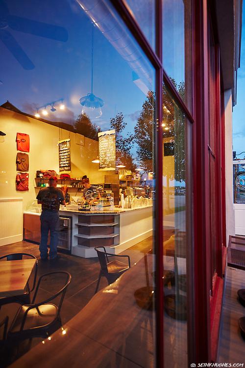 Midland Stop Espresso Gelato shop in South Main, Buena Vista, Colorado.