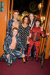 MYLEENE KLASS and cast members at the opening night of Amaluna by Cirque Du Soleil at The Royal Albert Hall, London on 19th January 2016.