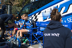 WNT Rotor Pro Cycling riders prepare for Stage 2 of the Setmana Ciclista Valenciana - a 115 km road race, between Castello and Vila-Real on February 23, 2018, in Valencia, Spain. (Photo by Balint Hamvas/Velofocus.com)