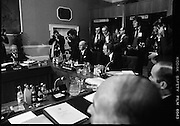 EEC Leaders Meet At Dublin Castle.   (N4)..1979..29.11.1979..11.29.1979..29th November 1979..At Dublin Castle the leaders of the countries within the EEC held a summit conference to discuss issues which would affect the EEC over the forthcoming years..Image shows An Taoiseach, Mr Jack Lynch TD, and Minister for Foreign Affairs, Michael O'Kennedy preparing to open the summit at Dublin Castle.