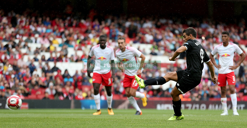 Sevilla's Wissam Ben Yedder scores his side's first goal of the game from the penalty spot
