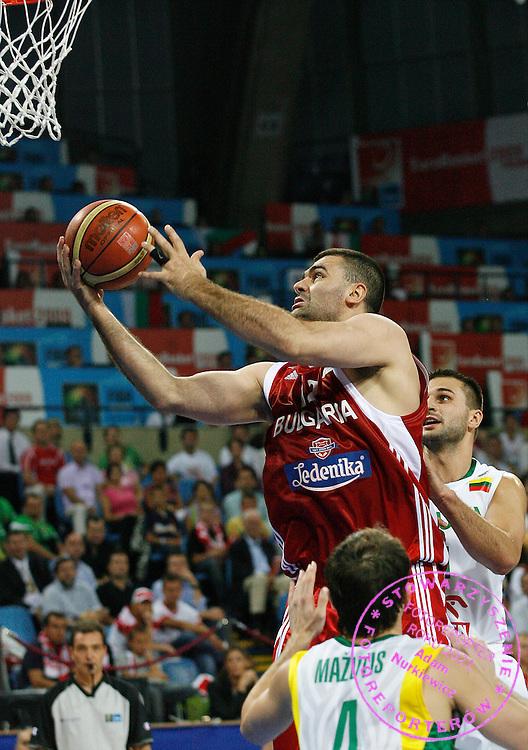 Wroclaw 09/09/2009.EuroBasket 2009.Preliminary Round - Group D.Lithuania v Bulgaria.Vassil Evtimov of Bulgaria ..Photo by : Piotr Hawalej / WROFOTO