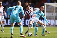 01-05-2016 VOETBAL:WILLEM II - FEYENOORDTILBURG<br /> Lucas Andersen van Willem II in duel met Karim El Ahmadi van Feyenoord<br />  <br /> <br /> <br /> Foto: Geert van Erven
