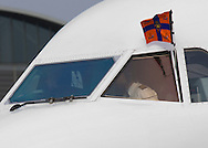 Copenhagen, 17-03-2015<br /> <br /> <br /> State Visit King Willem-Alexander and Queen Maxima to Denmark. Arrival at the airport<br /> <br /> Photo: Bernard Ruebsamen/Royalportraits Europe