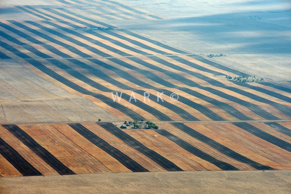Arid farmland, southern Wyoming near Laramie.  Sept 2012