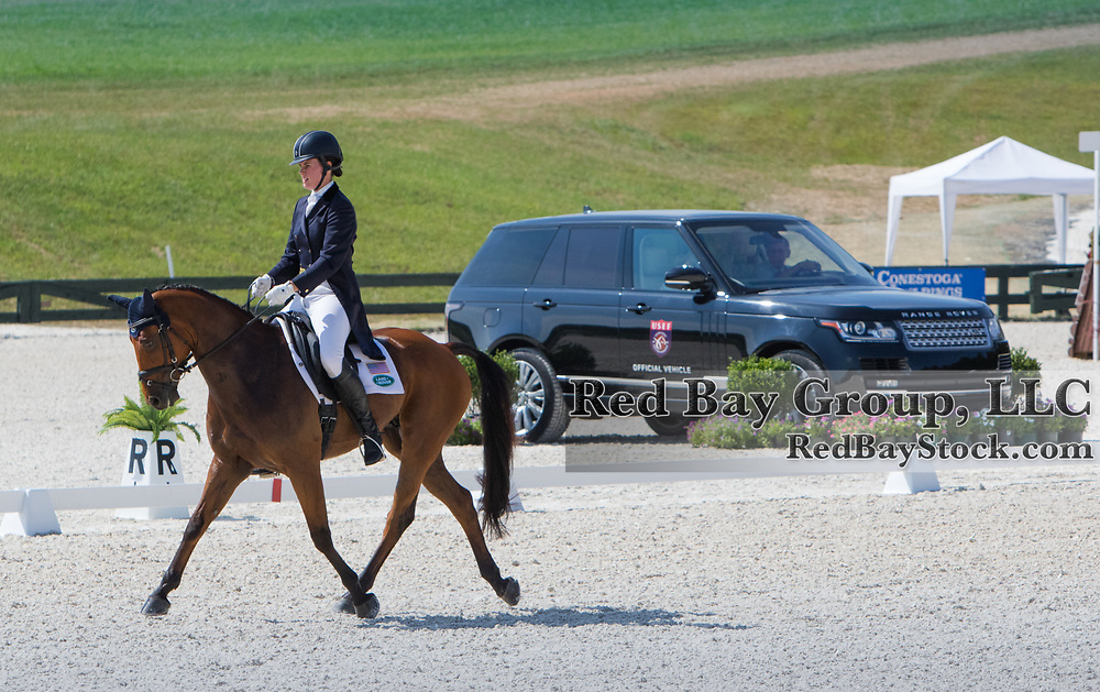 Maya Black riding Doesn't Play Fair competes in the Dressage phase at the 2016 Land Rover Great Meadow International on Saturday, July 9, 2016, at the Great Meadow Foundation in The Plains, VA.