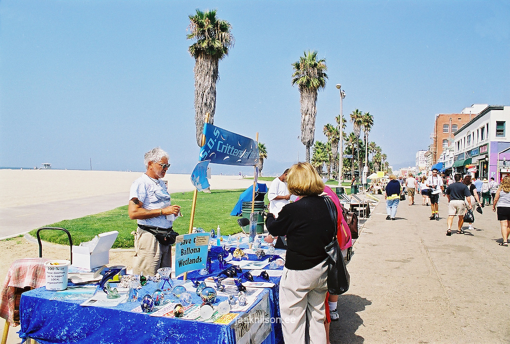 Ocean Frontwalk in Venice Beach, Los Angeles, California, USA