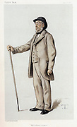 John Bennet Lawes (1814-1900) British agriculturalist. Founded Rothamsted Experimental Station in 1843. Cartoon from 'Vanity Fair', London, 8 July  1882