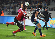 Crusaders wing Nemani Nadolo scores a try during the Super Rugby match between The Blues and Crusaders at Eden Park in Auckland, New Zealand. Saturday 6 June 2015. Copyright Photo: Andrew Cornaga / www.Photosport.co.nz