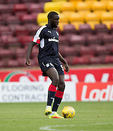 Dundee&rsquo;s Kevin Gomis - Motherwell v Dundee in the Ladbrokes Scottish Premiership at Fir Park, Motherwell. Photo: David Young<br />