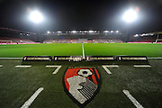 The Vitality Stadium under floodlights before the Premier League match between Bournemouth and Leicester City at the Vitality Stadium, Bournemouth, England on 13 December 2016. Photo by Graham Hunt.