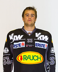 29.08.2012, Messestadion, Dornbirn, AUT, EBEL, Spielerportraits, Dornbirner Eishockey Club, im Bild Johannes Schernthaner, (Dornbirner Eishockey Club, #33)// during Dornbirner Eishockey Club Player Portrait Session at the Messestadion, Dornbirn, Austria on 2012/08/29, EXPA Pictures © 2012, PhotoCredit: EXPA/ Peter Rinderer