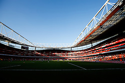 General View inside the stadium as players warm up - Photo mandatory by-line: Rogan Thomson/JMP - 07966 386802 - 15/02/2015 - SPORT - FOOTBALL - London, England - Emirates Stadium - Arsenal v Middlesbrough - FA Cup Fifth Round Proper.