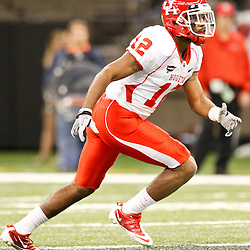 November 10, 2011; New Orleans, LA, USA; Houston Cougars defensive back Chevy Bennett (12) against the Tulane Green Wave during the fourth quarter at the Mercedes-Benz Superdome.  Houston defeated Tulane 73-17. Mandatory Credit: Derick E. Hingle-US PRESSWIRE