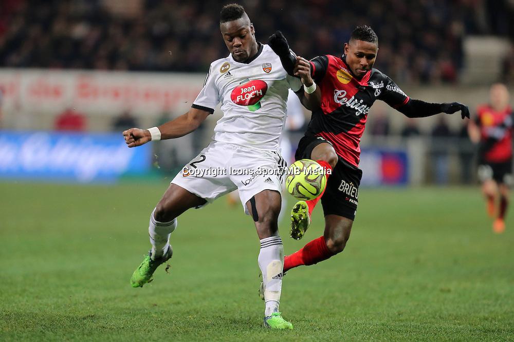 Christophe MANDANNE / Lamine KONE  - 24.01.2015 - Guingamp / Lorient - 22eme journee de Ligue1<br />Photo : Vincent Michel / Icon Sport *** Local Caption ***